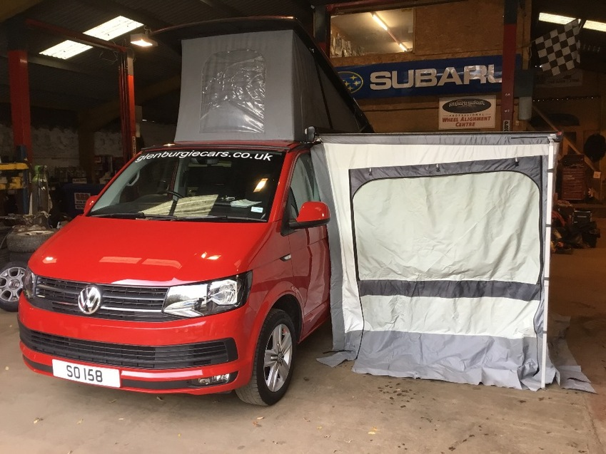 View VOLKSWAGEN TRANSPORTER 2.0ltr TDI 140 DSG HIGHLINE KOMBI CAMPER T32 AUS POP TOP