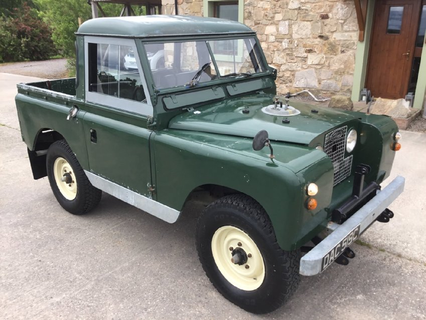 LAND ROVER SERIES II a 88' TRUCK CAB GALVANISED CHASSIS